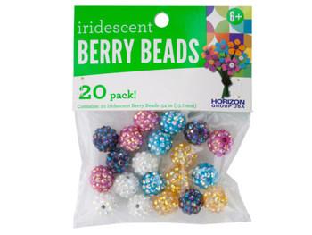 Iridescent Berry Beads (pack of 24)