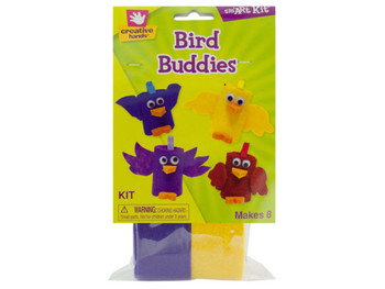 Bird Buddies Felt & Foam Craft Kit (pack of 18)