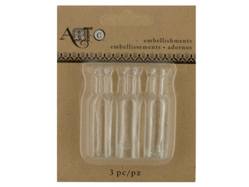 Mini Clear Craft Wine Bottle Set (pack of 20)