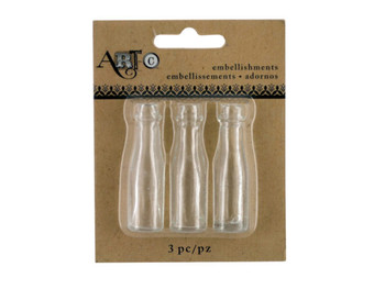 Mini Clear Craft Champagne Bottle Set (pack of 20)