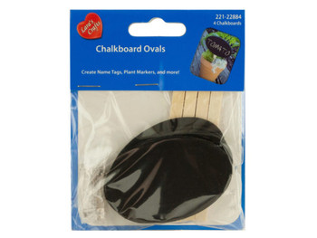 Mini Craft Chalkboard Ovals (pack of 24)