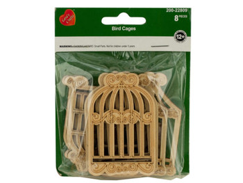 Craft Wood Bird Cages (pack of 24)
