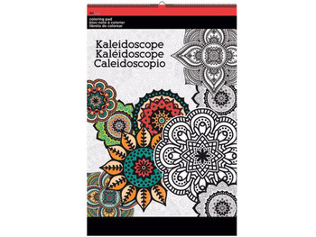 Kaleidoscope Large Coloring Pad (pack of 12)