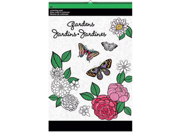 Gardens Large Coloring Pad (pack of 12)