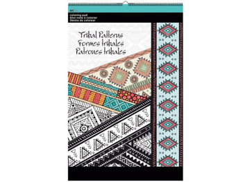 Tribal Patterns Large Coloring Pad (pack of 8)