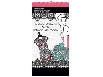 Fashion Patterns Small Coloring Pad (pack of 24)