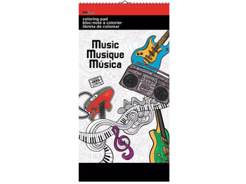 Music Small Coloring Pad (pack of 24)