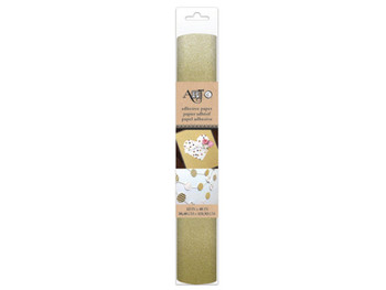 Self-Adhesive Gold Glitter Craft Paper Roll (pack of 8)