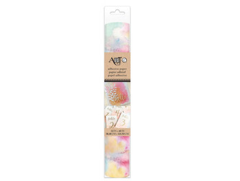 Self-Adhesive Watercolor Pattern Craft Paper Roll (pack of 8)