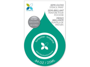 Teal Semi-Gloss No Drip Stencil Paint (pack of 24)