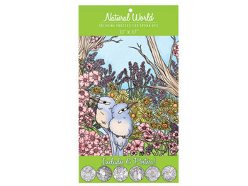 Natural World Adult Coloring Poster Set (pack of 12)