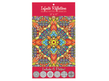 Infinite Reflections Adult Coloring Poster Set (pack of 12)