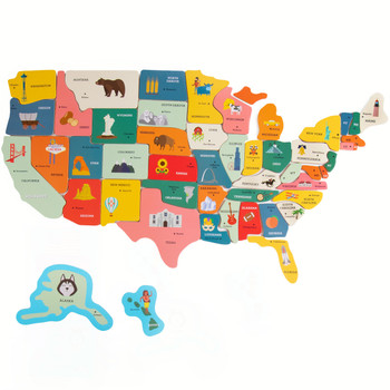 Professor Poplar's Fifty-Nifty Magnetic USA Map