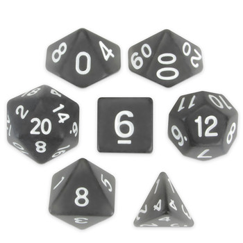 Set of 7 Polyhedral Dice, Penumbra
