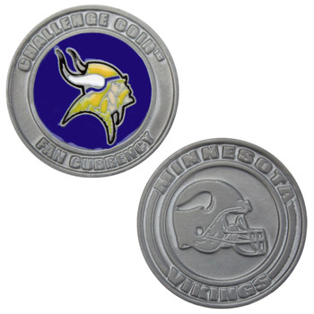 Challenge Coin Card Guard - Minnesota Vikings