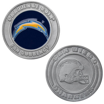 Challenge Coin Card Guard - San Diego Chargers