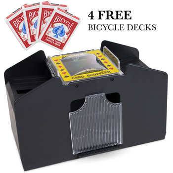 4 Deck Playing Card Shuffler with 4 Decks of Bicycle Cards