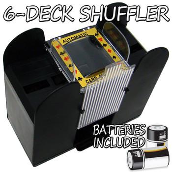 6 Deck Playing Card Shuffler w/ Batteries