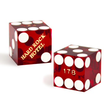 Pair (2) of Hard Rock 19 MM Official Casino Dice