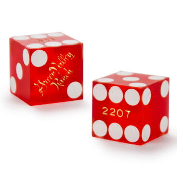 Pair (2) of 19mm Dice Used at the Green Valley Ranch Casino