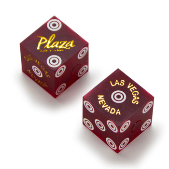 Pair (2) of Official 19mm Dice Used at the Plaza Casino