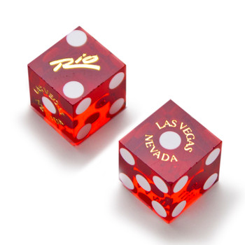 Pair (2) of Official 19mm Dice Used at the Rio Casino
