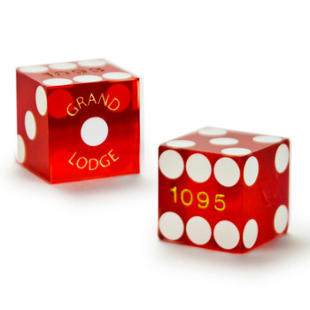 Pair (2) of Grand Lodge 19 MM Official Casino Dice