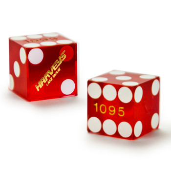 Copy Pair (2) of Harveys 19 MM Official Casino Dice