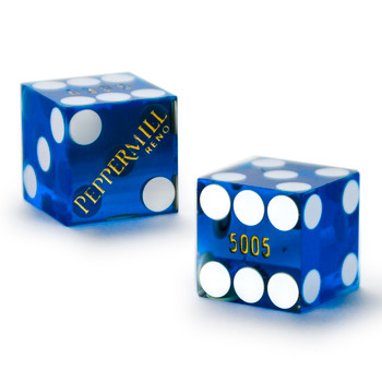 Pair (2) of Peppermill 19 MM Official Casino Dice