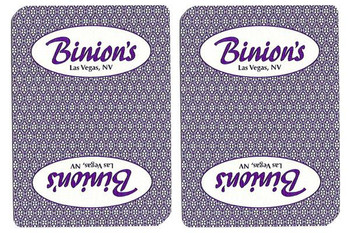 Single Deck Used in Casino Playing Cards - Binion's