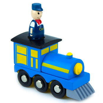 Conductor Carl Engine Car with Removable Character