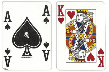 Single Deck Used in Casino Playing Cards - Tuscany