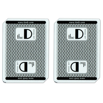 Single Deck Used in Casino Playing Cards - The D Las Vegas