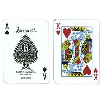 Single Deck Used in Casino Playing Cards - Aria
