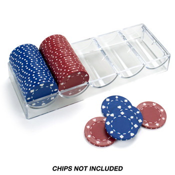 Acrylic Chip Tray 68mm - Pack of 10