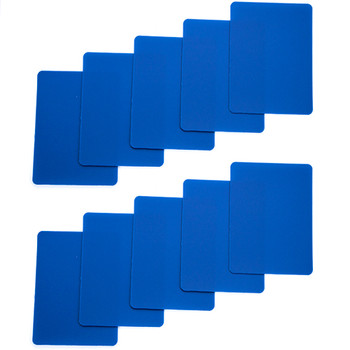 Set of 10 Blue Plastic Poker Size Cut Cards
