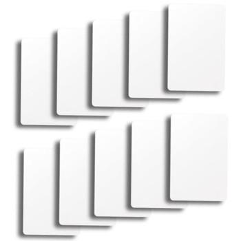 Set of 10 White Plastic Bridge Size Cut Cards