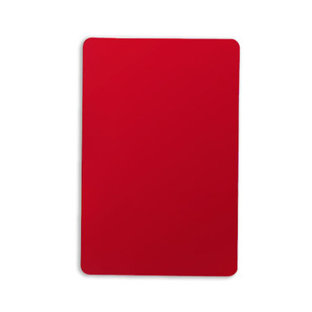 Set of 10 Red Plastic Bridge Size Cut Cards