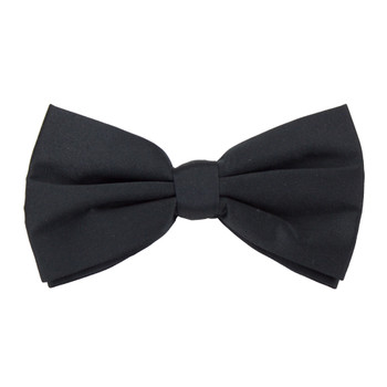 Formal Black Casino and Poker Dealer Clip On Bow Tie