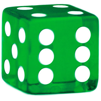 5 Green Dice - 19 mm