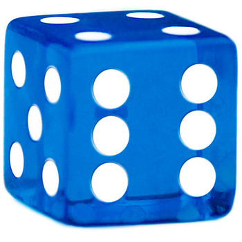 10 Blue Dice - 19 mm