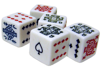 Bicycle Poker Dice Packs - 100 Dice