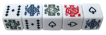 Bicycle Poker Dice Packs - 25 Dice