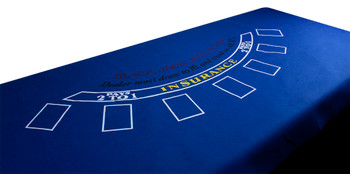 Blue Blackjack Felt
