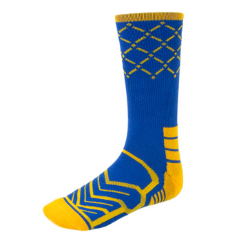 Large Basketball Compression Socks, Blue/Gold
