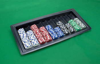 10 Row Plastic Casino Dealer Chip Tray