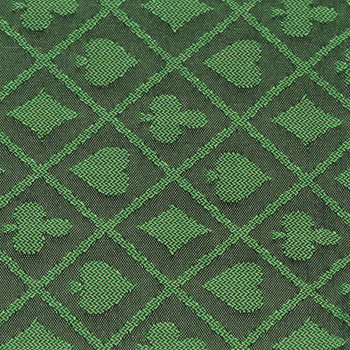 10' Section of Green Two-Tone Poker Table Speed Cloth