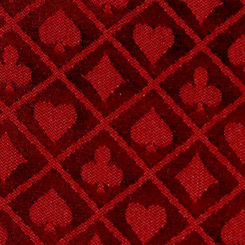 50 Meter Roll of Red Two-Tone Poker Table Speed Cloth