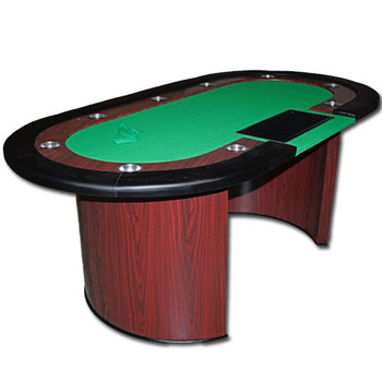 Crescent Base Poker Table with Dealer Cutout 82x42