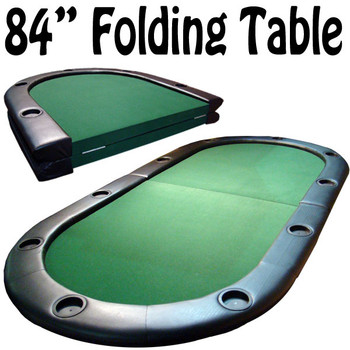 """10 Player Center Fold Poker Table with Folding Legs 84""""x 42"""""""